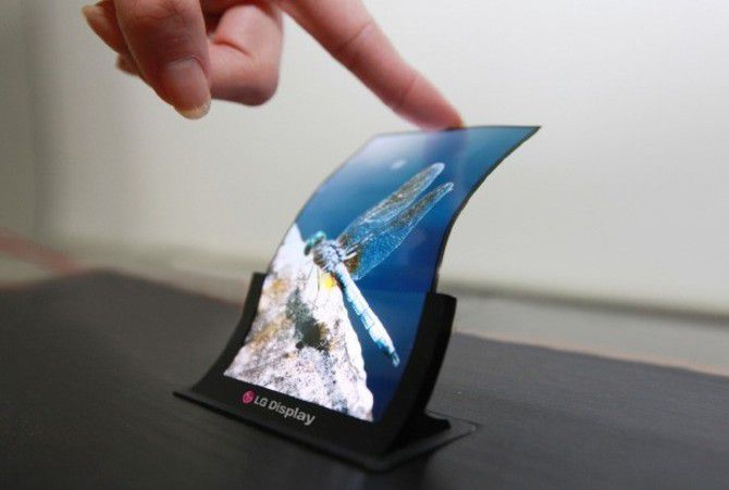 Lg oled flexible display