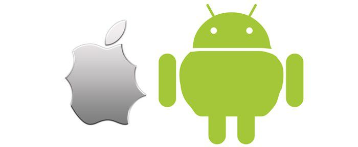 Android grignotte apple