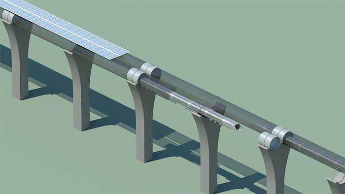Hyperloop panneaux solaires