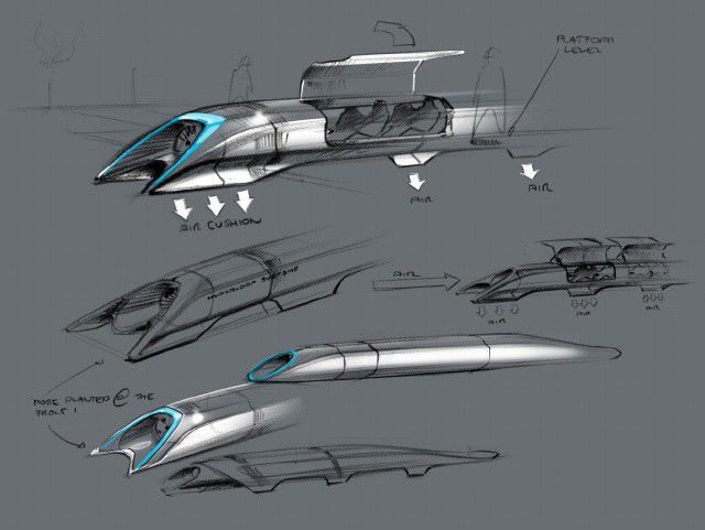 Hyperloop transport capsule design