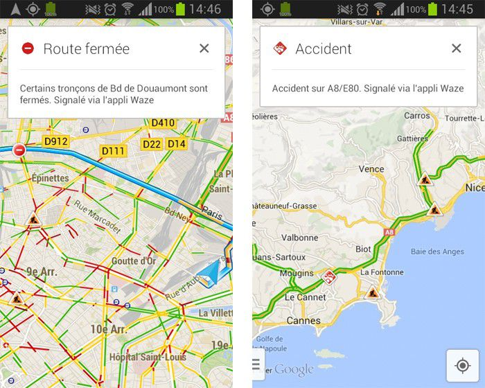 Google maps services waze