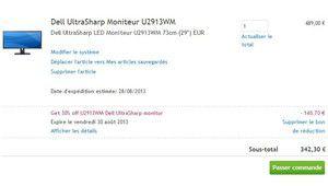 Super promo : 409 € l'écran Dell UltraSharp U2913WM, IPS 2560 x 1080p
