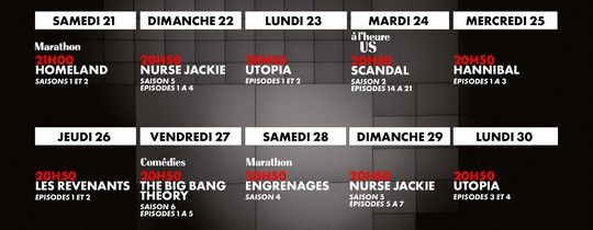 Programmes canal series