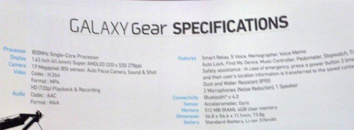 Specs gear