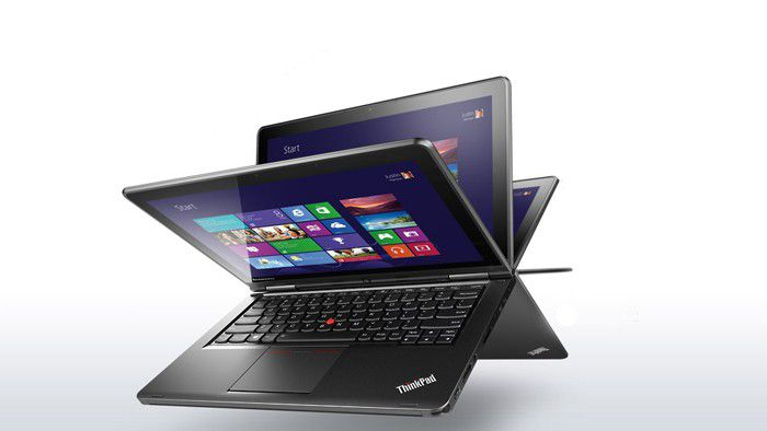 Lenovo laptop convertible thinkpad yoga silver front 1