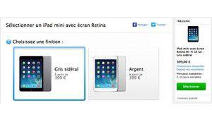 L'iPad Mini Retina commercialisé en France