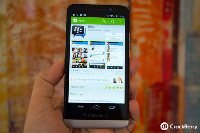 Fake Google Play sur BlackBerry Z30