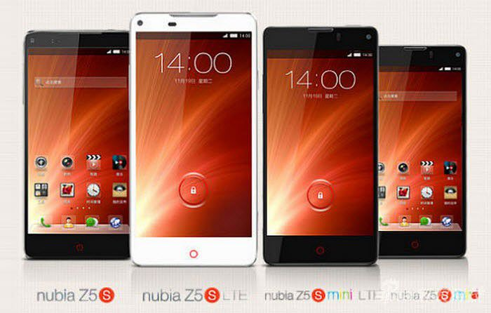 ZTE Nubia Z5S et Z5S Mini