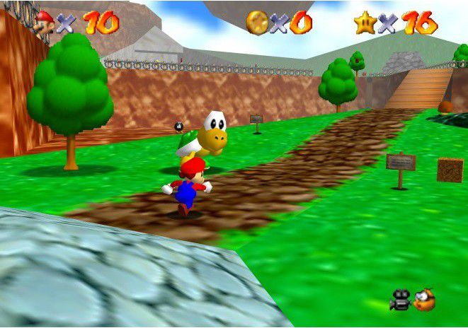 Nintendo 64 jeu mario 64(1)