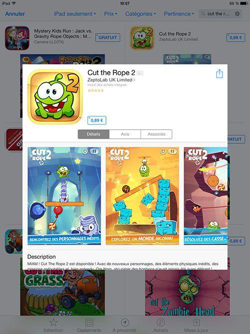 Sortie Cut The Rope 2 iOS