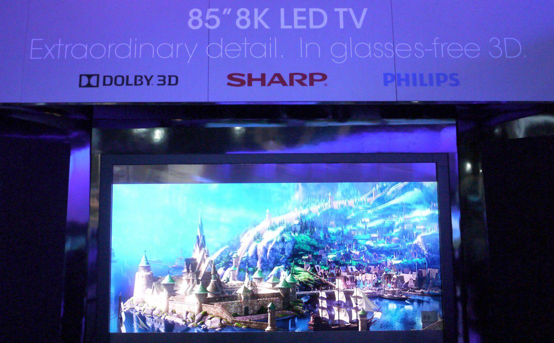 Sharp 8k 3d sans lunettes big
