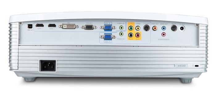 Acer H9500 connectique