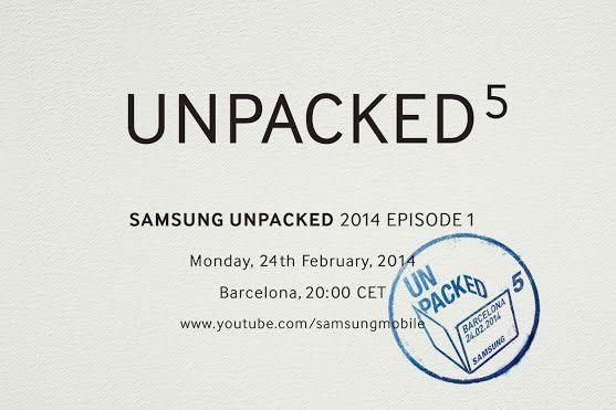 Unpacked invitation samsung galaxy s5