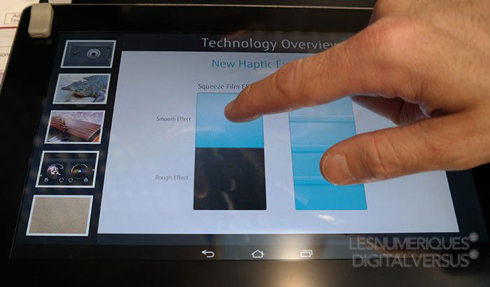Technologie haptique à ultrasons de Fujitsu