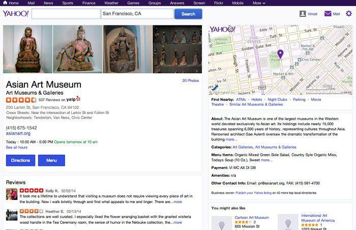 Yelp in Yahoo