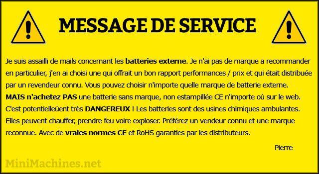 Message de service