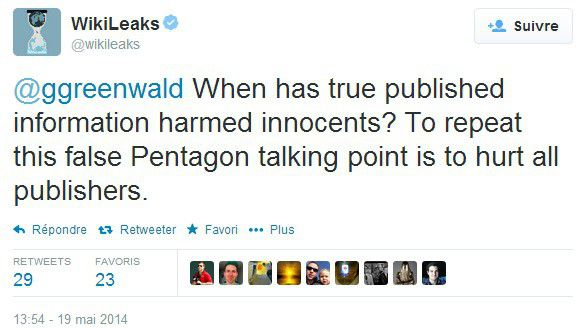 Tweet Wikileaks when