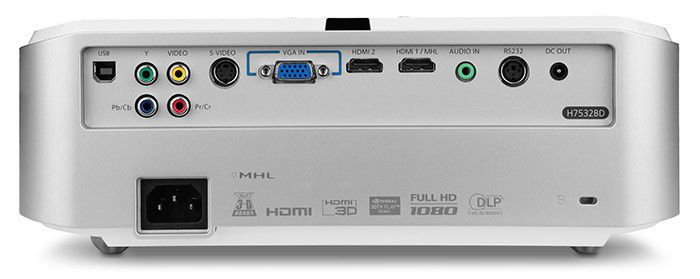 ACER H7532BD connectique