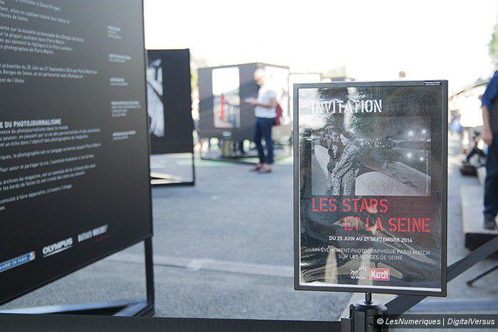 Les Stars et la Seine, archives de Paris Match, exposition sur les berges rive gauche