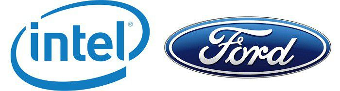 Intel et Ford logos