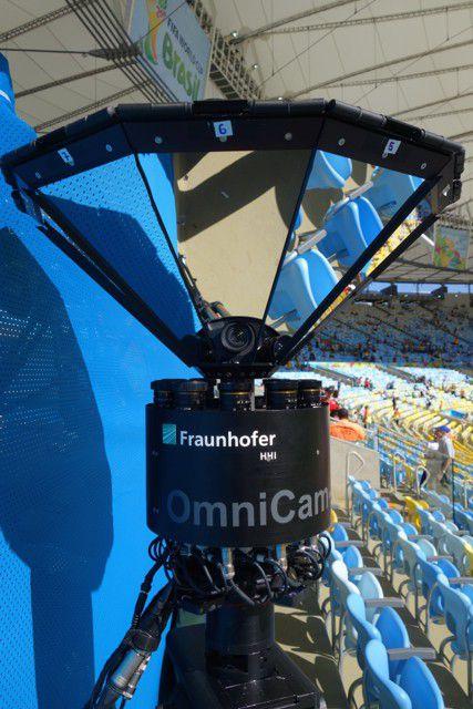 La Coupe du Monde 2014 filmée par le système UltraHD OmniCam.