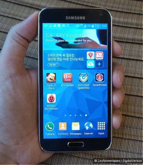 Prise en main du Samsung Galaxy S5 LTE-A