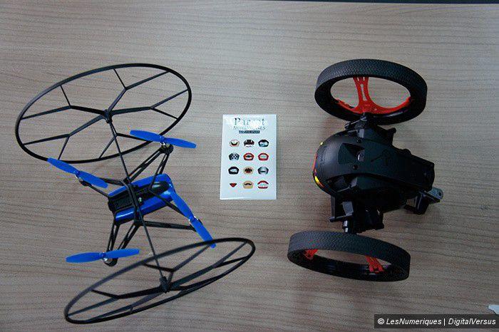 Parrot, les drones Rolling Spider et Jumping Sumo et leurs stickers