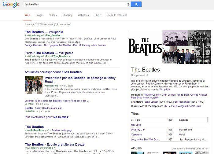 Les Beatles Google Fr 700