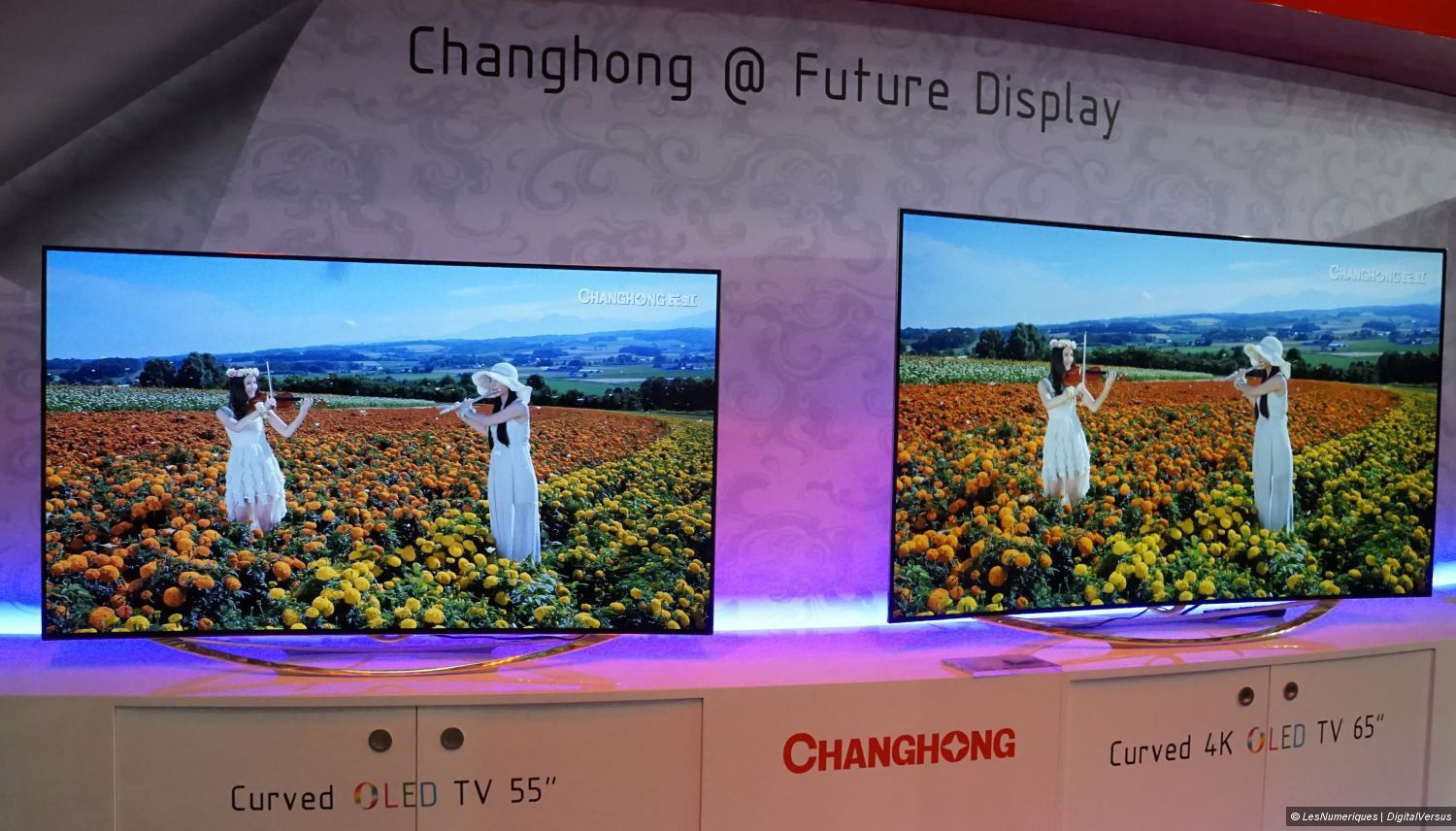 ifa 2014 des tv oled full hd et uhd 4k chez changhong. Black Bedroom Furniture Sets. Home Design Ideas