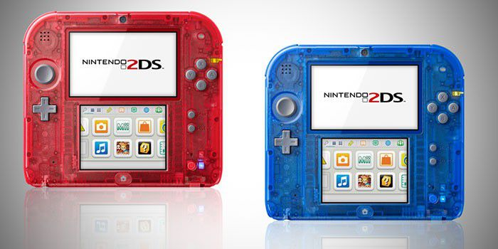 Nintendo 2DS Rouge Bleu Transparent
