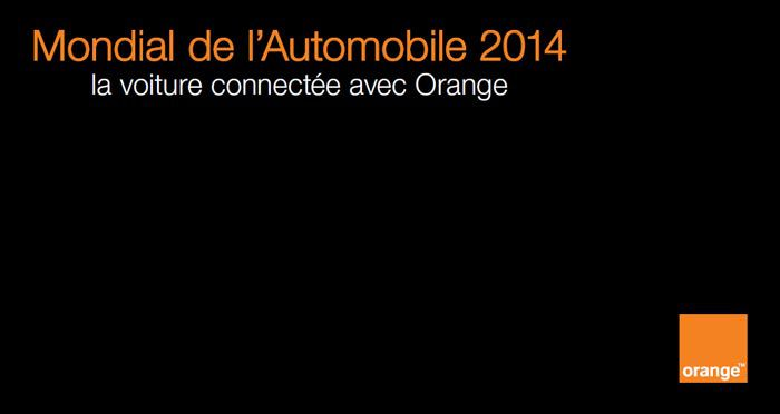 Orange, Mondial de l'automobile 2014, la voiture connectée, visuel