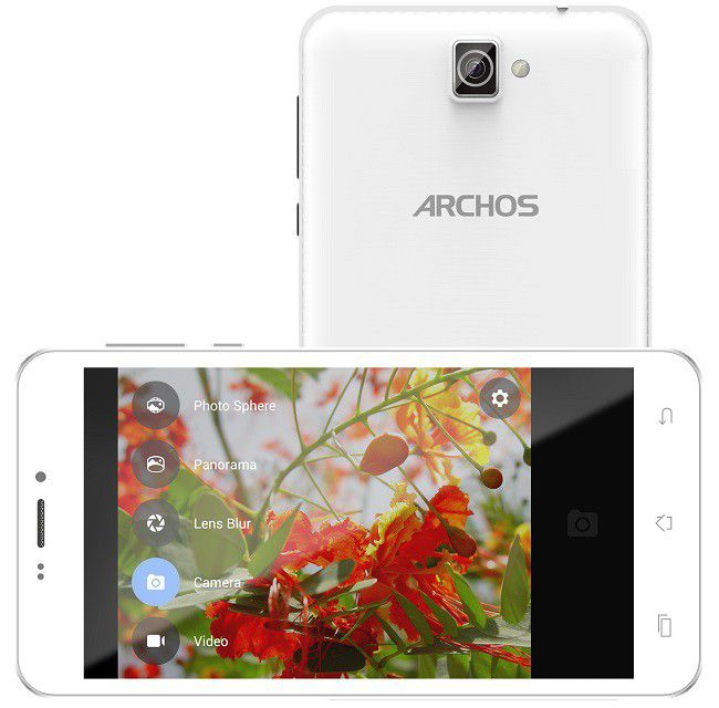 Archos 59 Titanium photo interface