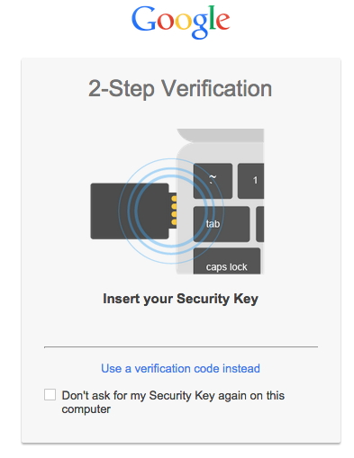 Google Security Key FIDO U2F