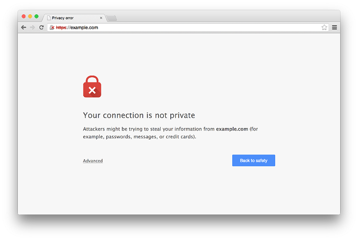 ICloud chrome untrusted