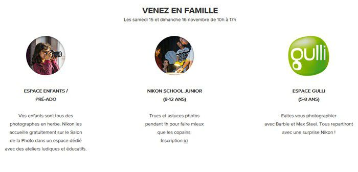 Salon Photo Nikon, Nikon School Junior, programme pour les enfants