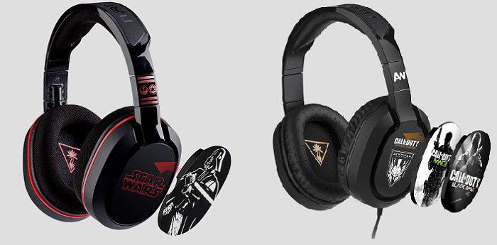 Casques-micros gamer Star Wars et Call of Duty Turtle Beach, avec plaques amovibles