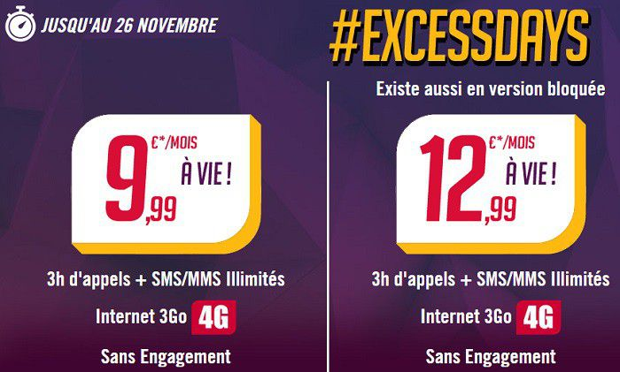 Virgin Mobile Excess Days novembre 2014