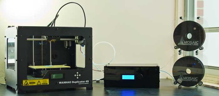 Mosaic par Mosaic Manufacturing, système de plug-in pour impressions 3D multicolores sur des imprimantes monochromes