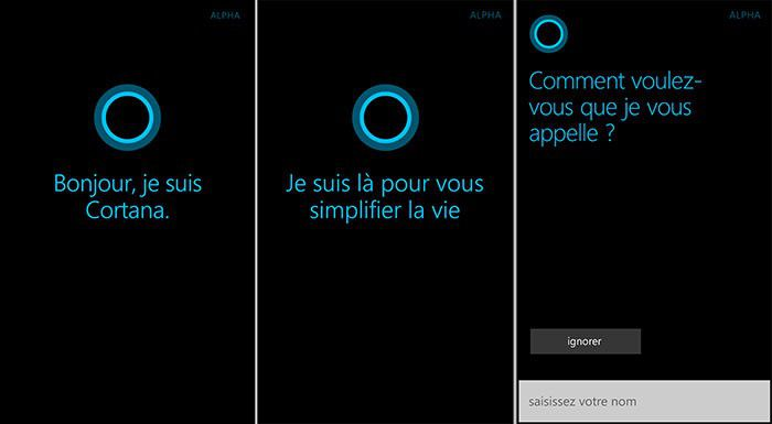 Cortana en français sur Windows Phone