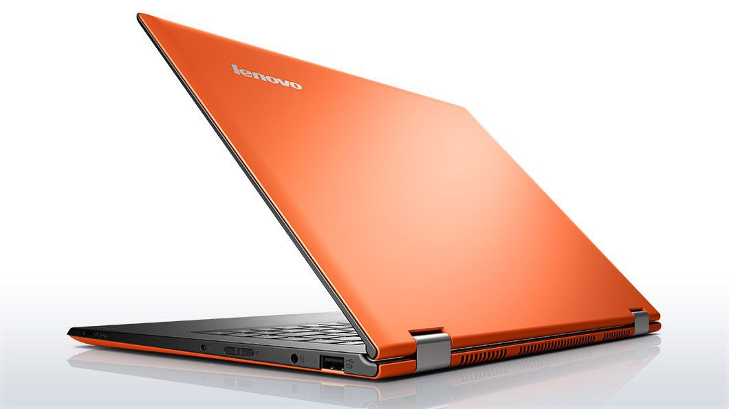 Lenovo laptop convertible yoga 2 pro orange back side 10
