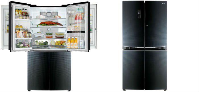 ces 2015 un r frig rateur grande capacit lg double door in door. Black Bedroom Furniture Sets. Home Design Ideas