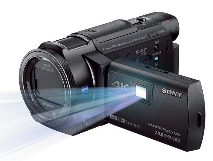 Sony FDR AXP33 projecteur