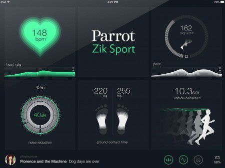 Application Parrot ZikSport