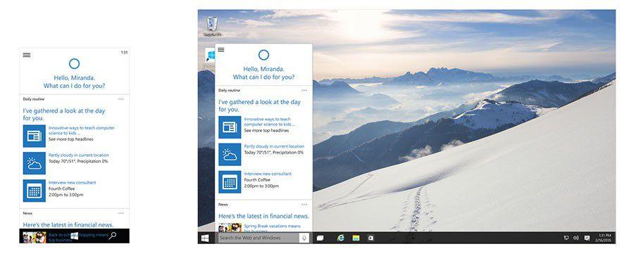 Windows 10, les nouveautés de la version pour smartphones