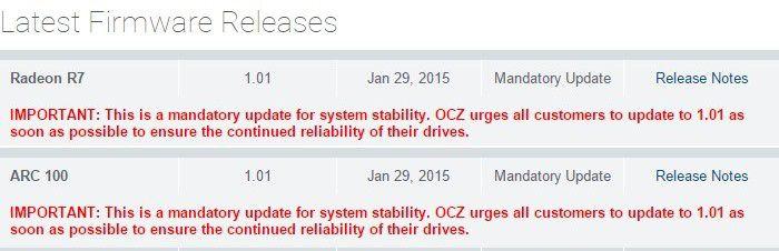 OCZ Arc 100 v1 01 firmware
