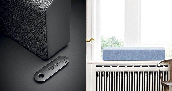 Barre de son Vifa Stockholm, détail, télécommande et en coloris bleu