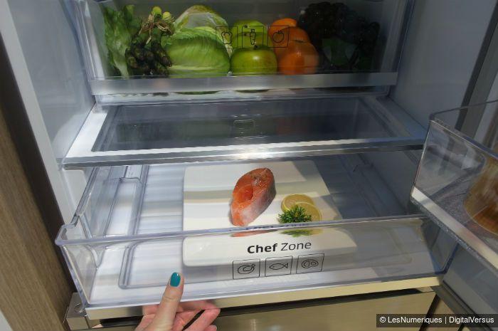 Samsung réfrigérateur Chef Collection tiroir Chef Zone