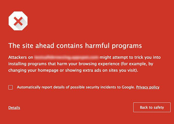 Chrome avertissement