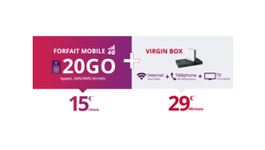 Virgin : une offre quadruple play avec 20 Go de data mobile à 45 €