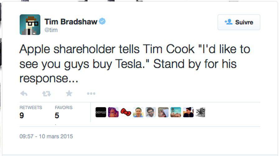 Tweet Apple Tesla
